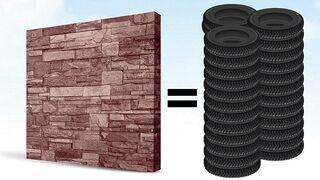Los neumáticos fuera de uso tienen una segunda vida como material de construcción