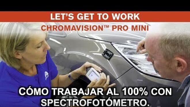 Paso a paso para encontrar la fórmula de color con el espectrofotómetro de Cromax