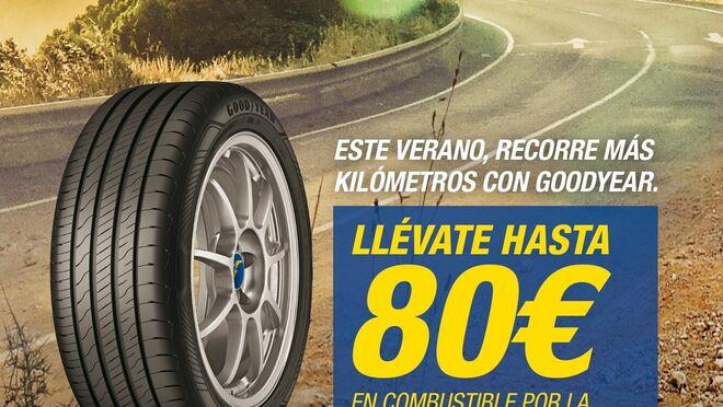 Goodyear regala hasta 80 euros en cheques carburante por la compra de sus neumáticos
