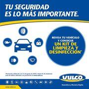 Vulco regala un kit de desinfección por la revisión del coche en sus talleres