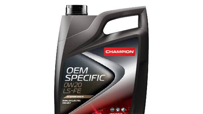 El lubricante Champion OEM Specific 0W-20 LS-FE, también certificado por Opel