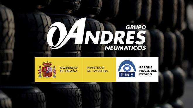 Grupo Andrés suministrará los neumáticos para los turismos oficiales del Parque Móvil del Estado