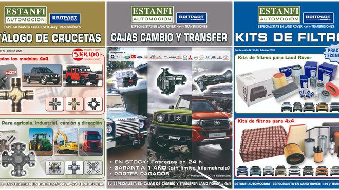 Estanfi Automoción amplía su línea de productos y publica tres nuevos catálogos