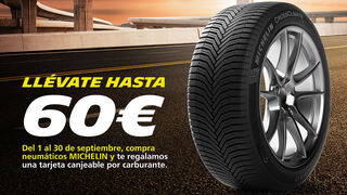 Confortauto regala hasta 60 euros en combustible por la compra de neumáticos Michelin