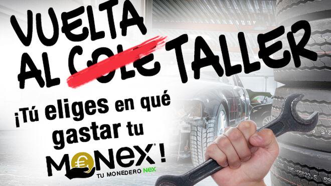 Premios o saldo acumulable en Monex, la promoción de vuelta al taller de Nex