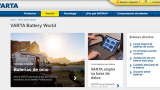 Varta Battery World, la nueva sección de soporte multimedia de la web de Varta