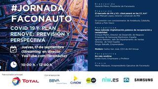 La #JornadaFaconauto sobre Covid y Plan Renove, en formato televisivo