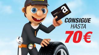 Confortauto regala cheques de hasta 70 euros en Amazon por la compra de neumáticos Continental