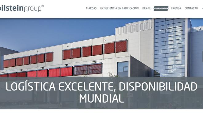 La página web de bilstein group, ya disponible en español