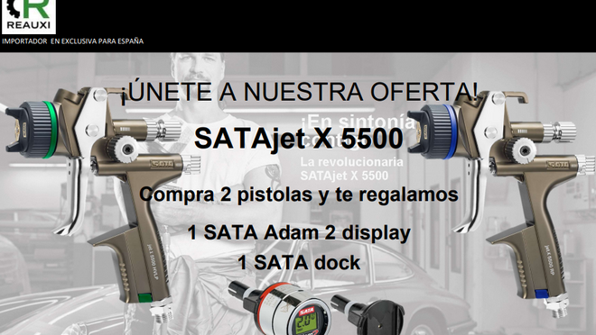 Reauxi regala un Sata Adam 2 Black por la compra de una pistola Sata Jet 5500X