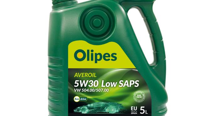 El lubricante Averoil Low Saps 5W30 504/507 de Olipes, homologado por Volkswagen