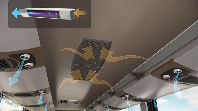 Valeo presenta un dispositivo para autobuses que purifica el aire frente al coronavirus