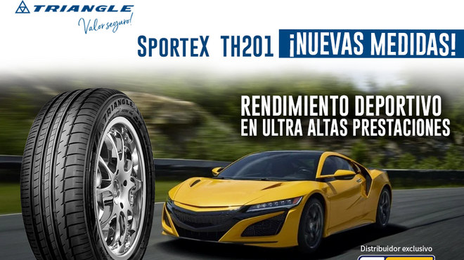 Tiresur comercializa nuevas medidas del neumático SporteX TH201 de Triangle
