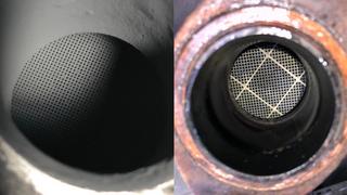 Antes y después de usar la Oxytech DPF Cleaner