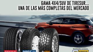 Tiresur ofrece una completa gama 4X4/SUV con marcas de distribución exclusiva