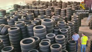 Localizadas 35 toneladas de neumáticos usados en vertederos ilegales en Crevillent (Alicante)