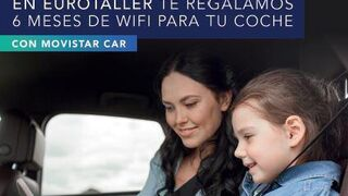 Eurotaller regala seis meses de wifi para el coche tras una intervención por valor de 150 euros