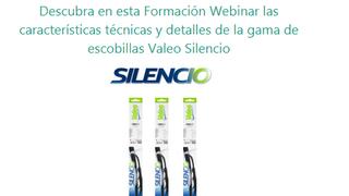 Valeo ofrece formación online sobre su gama de escobillas Silencio