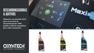 Las descarbonizadoras de motores Oxyhtech incorporan pantalla táctil