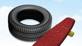 ¿Sabías que… se fabrican monopatines con el caucho reciclado de los neumáticos usados?