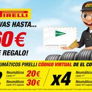 Confortauto ofrece cheques regalo de El Corte Inglés por la compra de neumáticos Pirelli