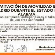 El certificado de movilidad será necesario para las actividades esenciales en el toque de queda
