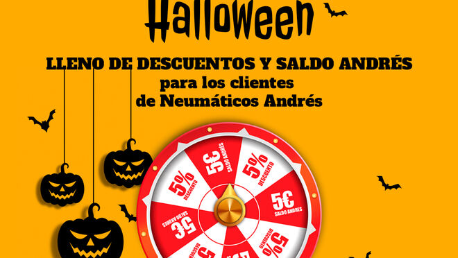 Neumáticos Andrés regalará más de 30.000 euros en premios en su ruleta de Halloween