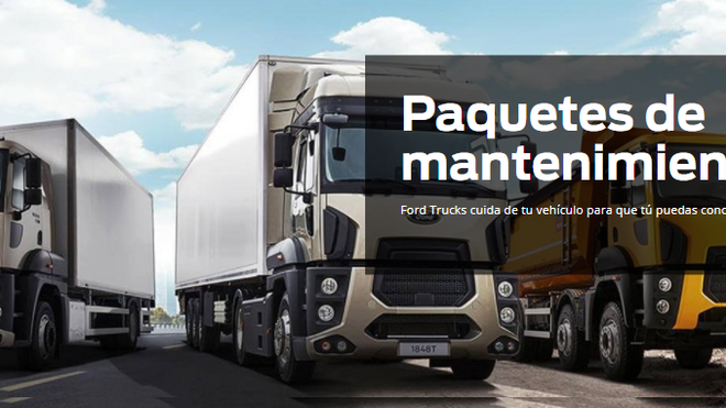 Ford Trucks presenta su primer programa de paquetes de mantenimiento