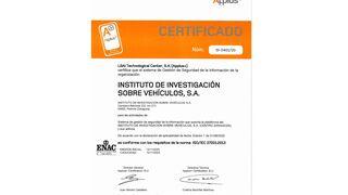 CZ obtiene la certificación de su Sistema de Gestión de la Seguridad de la Información