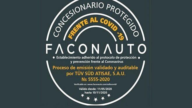 Faconauto impulsa la renovación del sello 'Concesionario protegido frente al Covid-19'