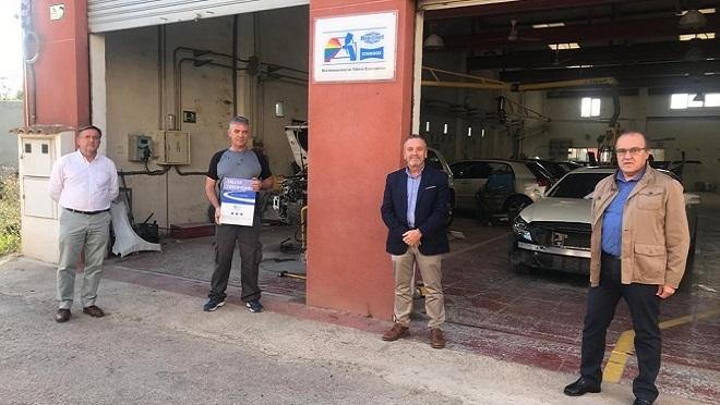 Talleres Iniesta, certificado por Centro Zaragoza en el área de carrocería y pintura