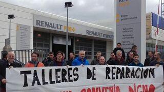 Los sindicatos reclaman un convenio digno para los talleres de Pamplona