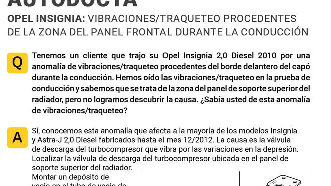 Solución a las vibraciones procedentes del panel frontal de los Opel Insignia y Astra