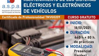 Aspa ofrece formación gratuita de electromecánica para desempleados
