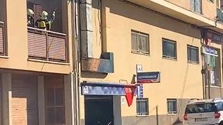 Arde un taller mecánico de Lloseta (Mallorca)