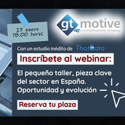GT Motive dará voz a los pequeños talleres en un webinar gratuito