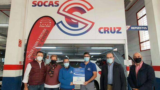 El taller canario Socas Cruz de Five Star recibe el certificado Centro Zaragoza