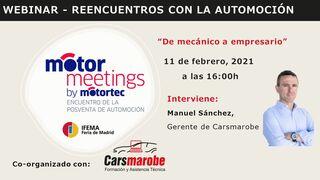 Cars Marobe prepara el segundo webinar de Motormeetings by Motortec