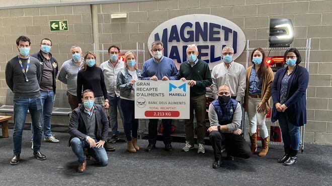 Magneti Marelli y sus empleados aportan 2.213 kg de alimentos al Gran Recapte 2020
