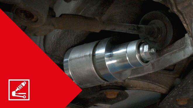 Sustitución de silentblock de soporte trasero y del brazo de suspensión de varios Volkswagen