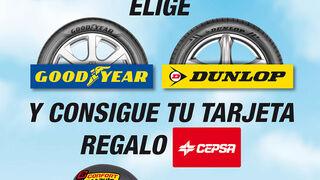 Confortauto regala tarjetas Cepsa al comprar neumáticos Goodyear o Dunlop