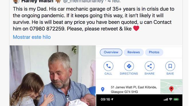 Una joven escocesa evita el cierre del taller de su padre con un tuit viral