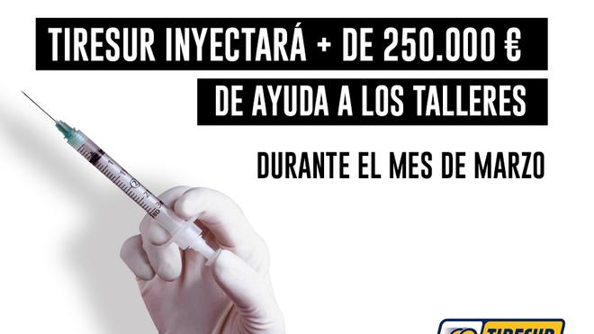 Tiresur pone en marcha una campaña que otorgará más de 250.000 euros a los talleres