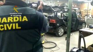 Desmantelado en Ávila el mayor taller clandestino para fabricar dobles fondos