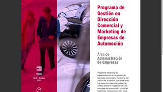 Nuevo curso de dirección comercial y marketing para empresarios de automoción