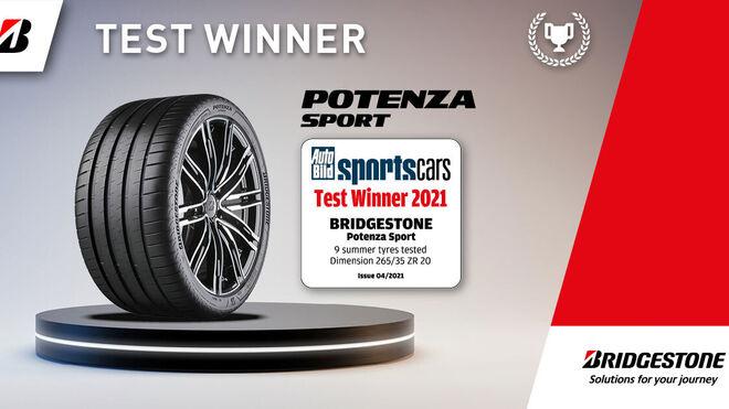 Bridgestone Potenza Sport gana la prueba de neumáticos deportivos de Auto Bild sportscars 2021