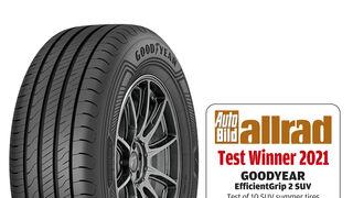 Goodyear EfficientGrip 2 SUV, ganador en la prueba de Auto Bild allrad