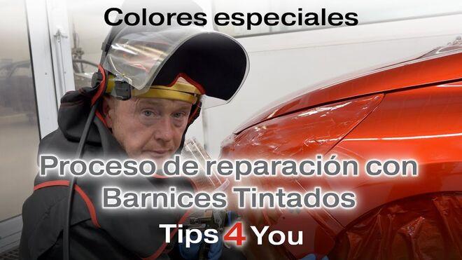 Cómo realizar la reparación de colores especiales con un barniz tintado