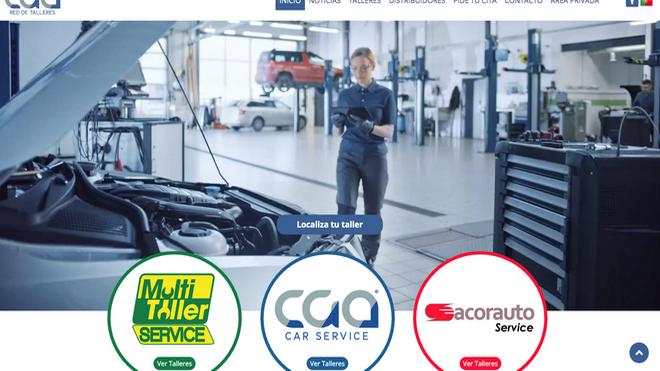 CGA estrena web para toda su red de talleres