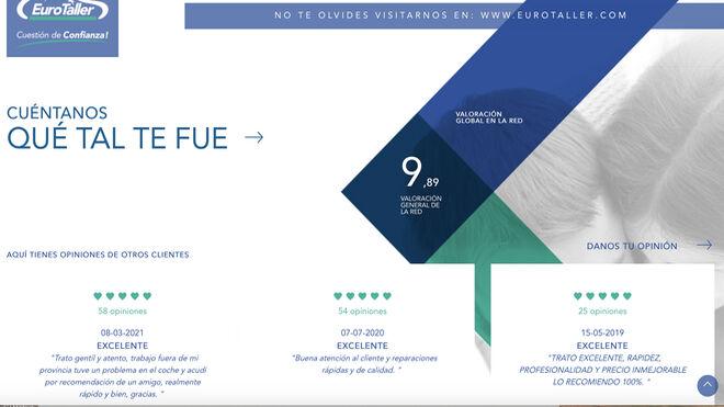 Eurotaller recibe un sobresaliente alto de sus clientes